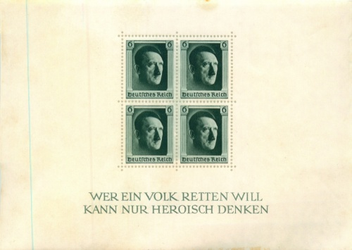 Набор почтовых марок - Адольф Гитлер (квартблок) (Германия)