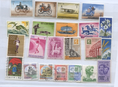 Набор почтовых марок (Италия)