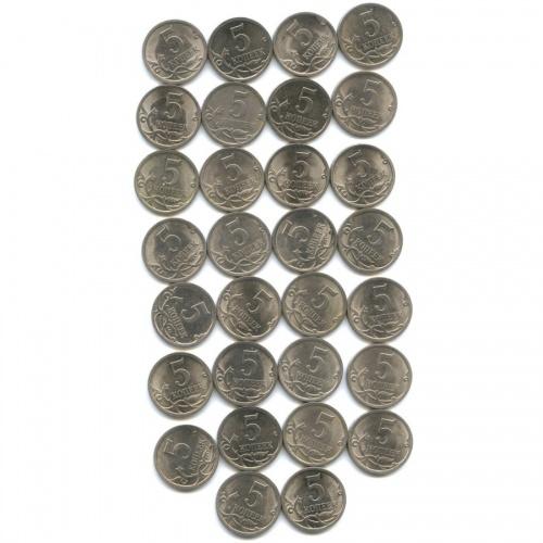 Набор монет 5 копеек 2009 года СПМД (Россия)