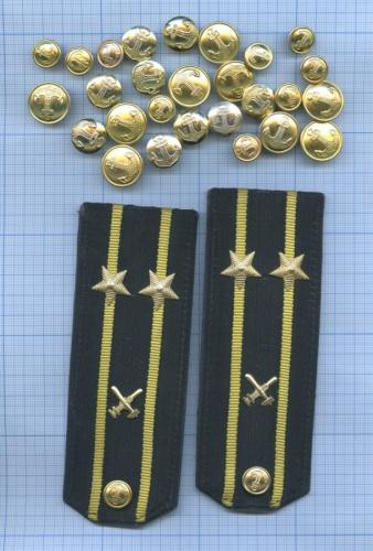 Набор пуговиц ипогоны инженерно-технического состава (СССР)