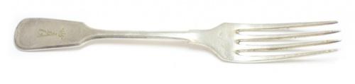 Вилка столовая (клейма, ALPACCA SILBER II, глубокое серебрение, до1917 г.), 21 см