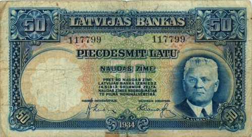50 латов 1934 года (Латвия)
