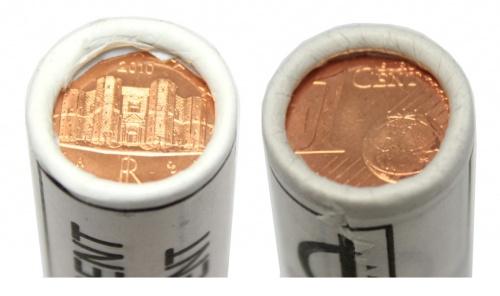 Набор монет 1 цент (ролл) 2010 года (Италия)