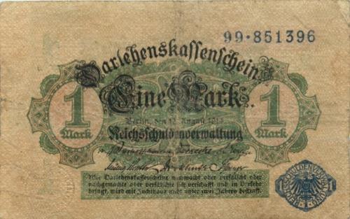 1 марка 1914 года (Германия)