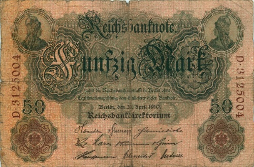 50 марок 1910 года (Германия)