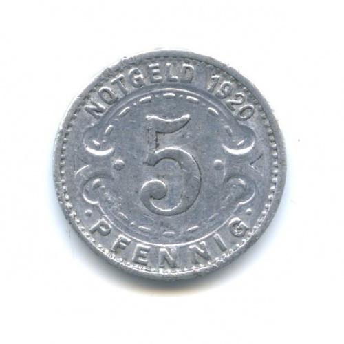 5 пфеннигов (нотгельд, Виттен) 1920 года (Германия)