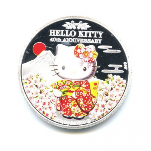 Жетон «Hello Kitty - 40th Anniversary» (вцвете, под серебро)