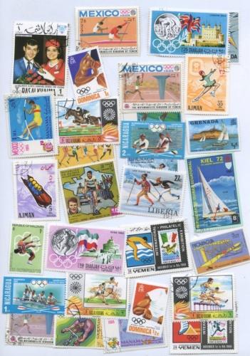 Набор почтовых марок «Спорт» (30 шт.)
