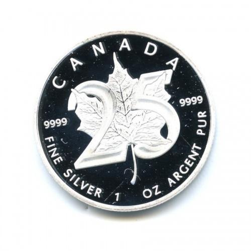 5 долларов — Кленовый лист 2013 года (Канада)