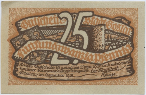 25 пфеннигов (нотгельд) 1918 года (Германия)
