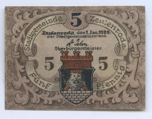5 пфеннигов (нотгельд) 1920 года (Германия)