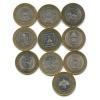 Набор юбилейных монет 10 рублей 2005-2010 (Россия)