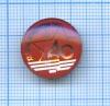 Знак «XXвоенно-патриотический слет», стекло 1985 года (СССР)