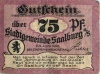 75 пфеннигов (нотгельд) 1921 года (Германия)