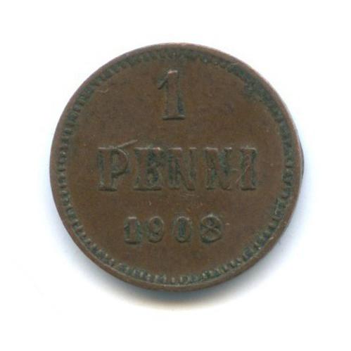 1 пенни 1908 года (Российская Империя)