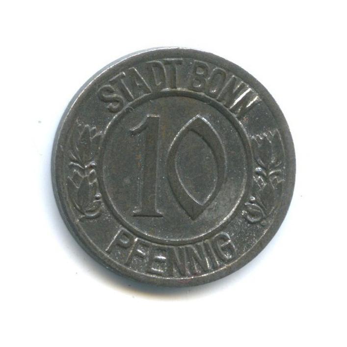 10 пфеннигов, Бонн (нотгельд) 1920 года (Германия)