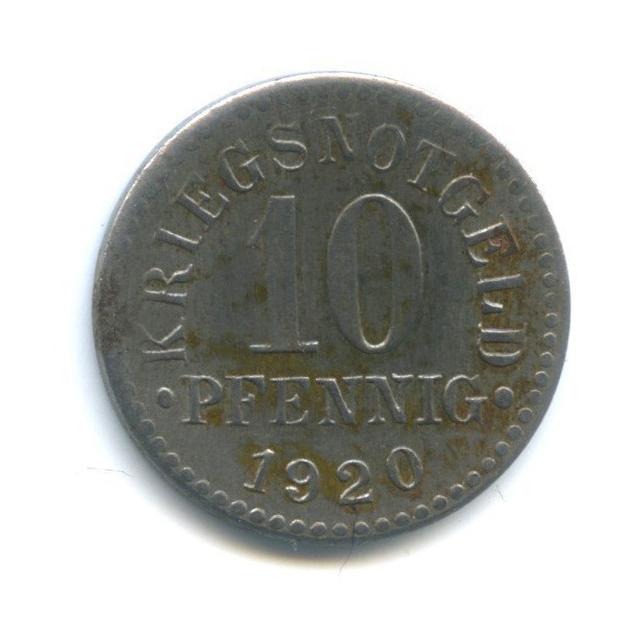 10 пфеннигов, Брауншвейг (нотгельд) 1920 года (Германия)
