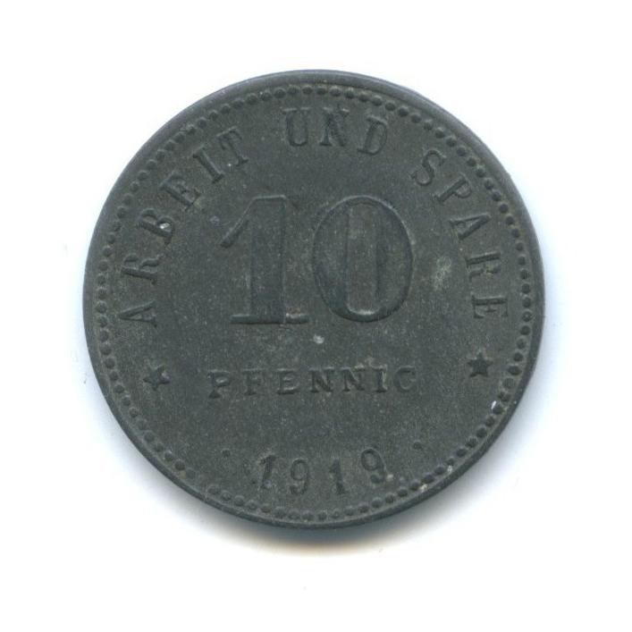 10 пфеннигов, Вайсенфельс (нотгельд) 1919 года (Германия)
