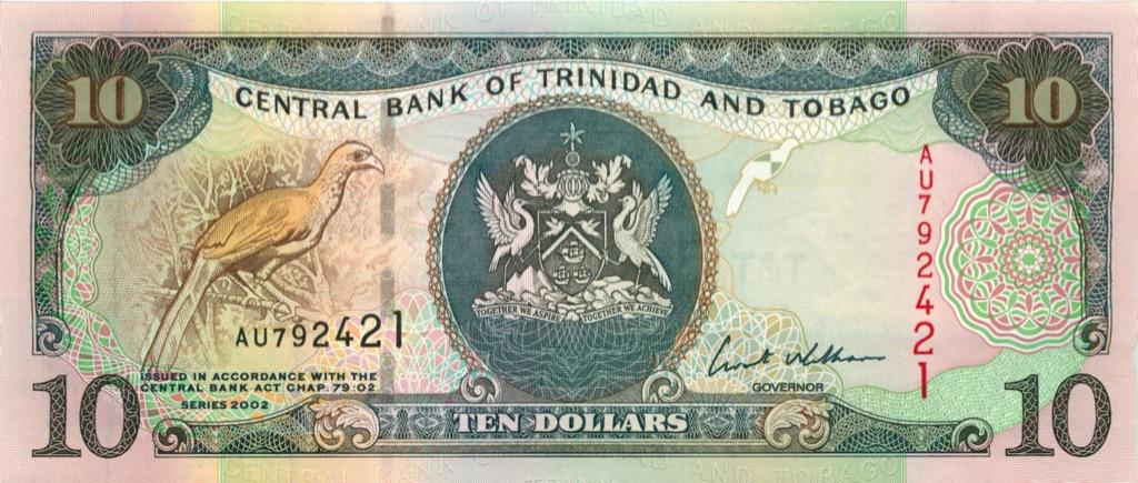 10 долларов 2002 года (Тринидад и Тобаго)
