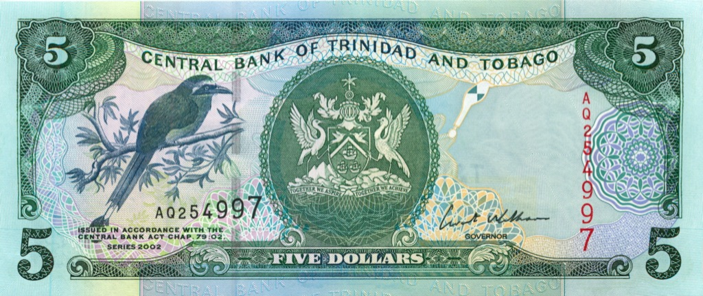 5 долларов 2002 года (Тринидад и Тобаго)