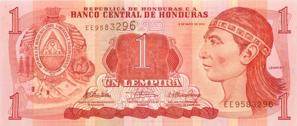 1 лемпира (Гондурас) 2010 года