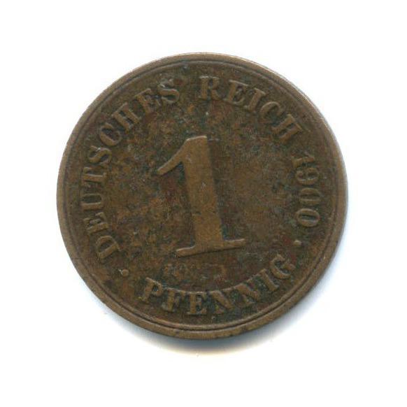 1 пфенниг 1900 года (Германия)