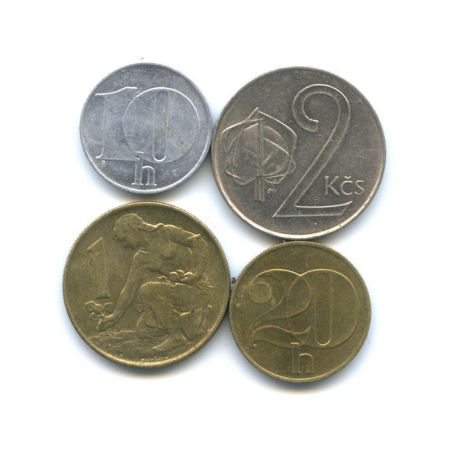 Набор монет 1991-1992 (Чехословакия)
