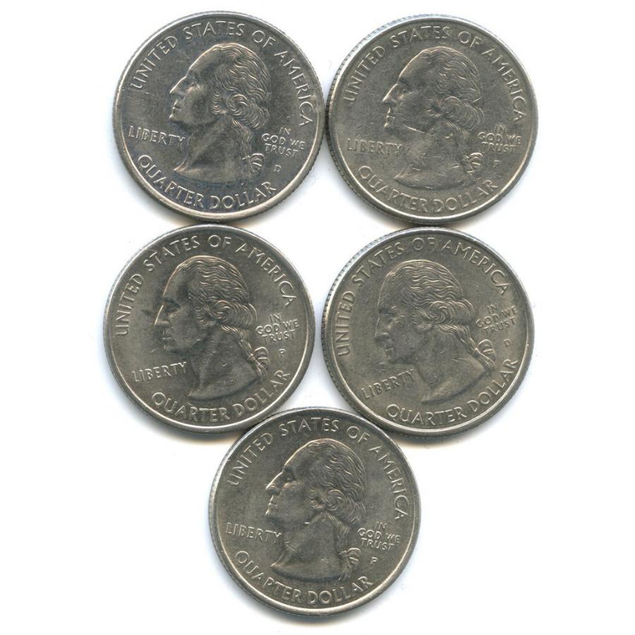 Набор монет 25 центов (квотер) - Штаты итерритории 1999 года (США)