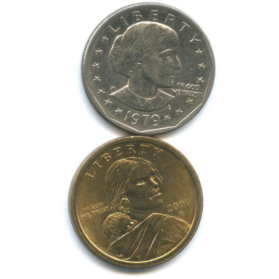Набор монет 1 доллар 1979, 2000 Р (США)