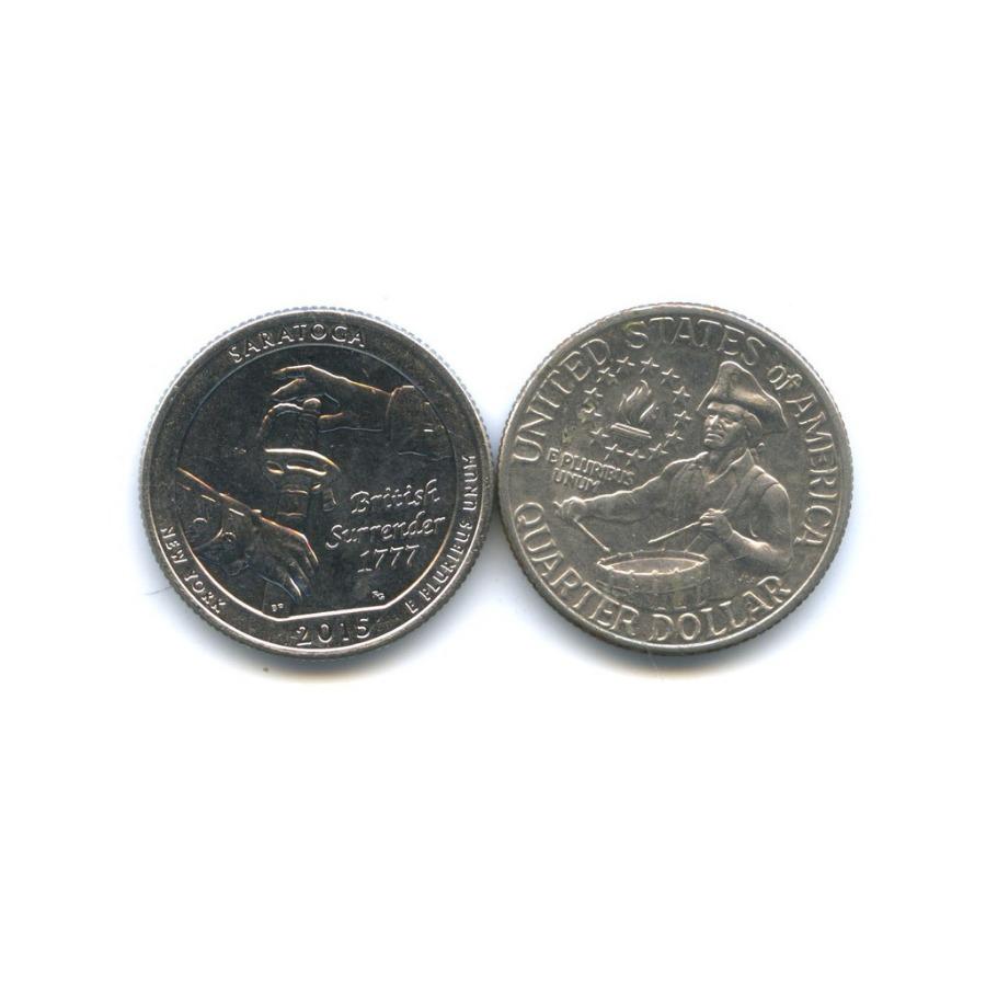 Набор юбилейных монет 25 центов (квотер) 1976, 2015 (США)