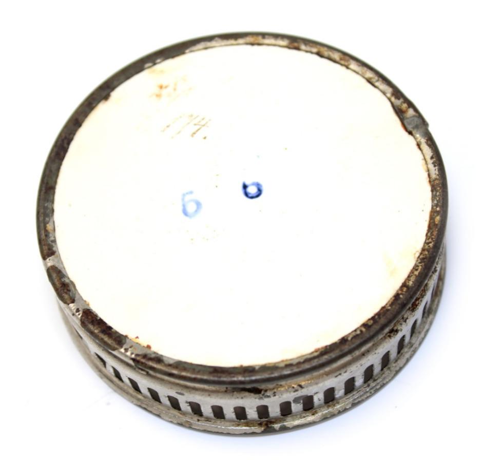 Подставка (керамика, серебрение, клеймо иномер), 7,5 см (Германия)