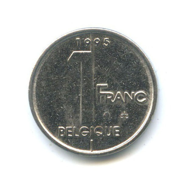 1 франк 1995 года Q (Бельгия)