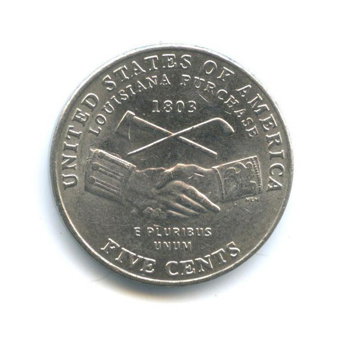 5 центов — 200 лет экспедиции Льюиса иКларка - Приобретение Луизианы 2004 года P (США)