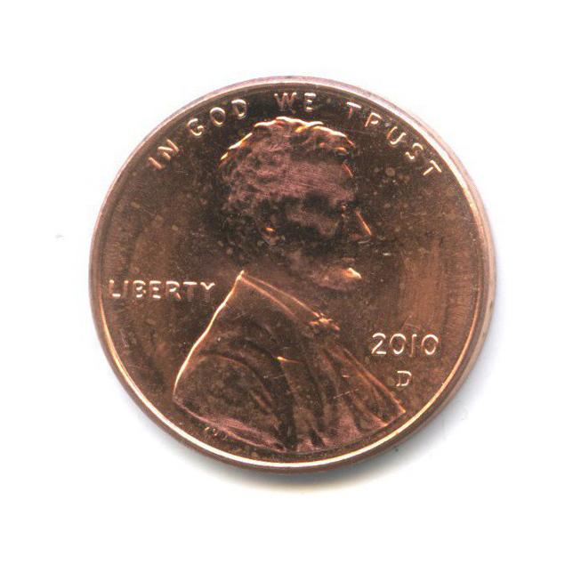 1 цент - Щит Содружества 2010 года D (США)