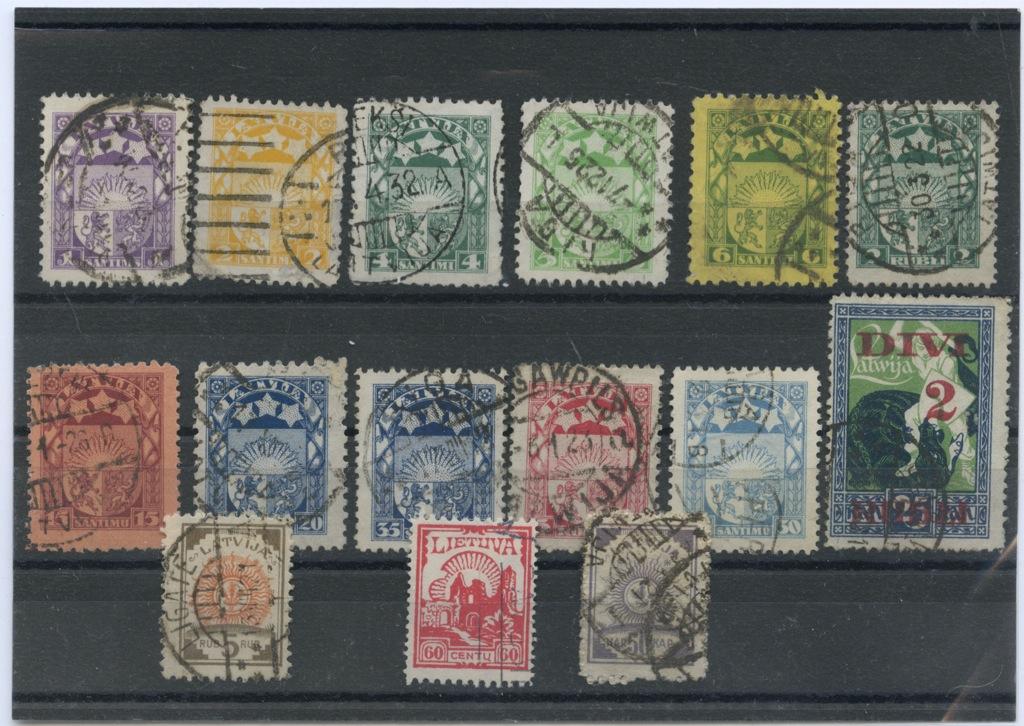 Набор почтовых марок (Латвия)