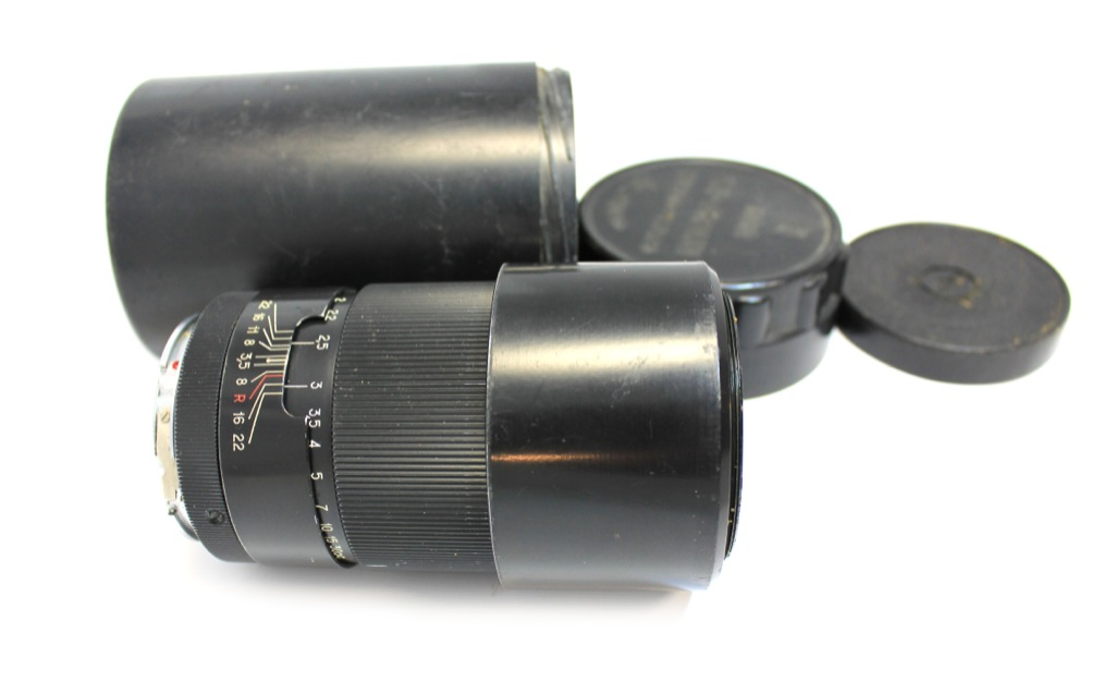 Объектив фотографический «Юпитер-37А», 3,5/135 mm, в футляре (11×6 см) (СССР)