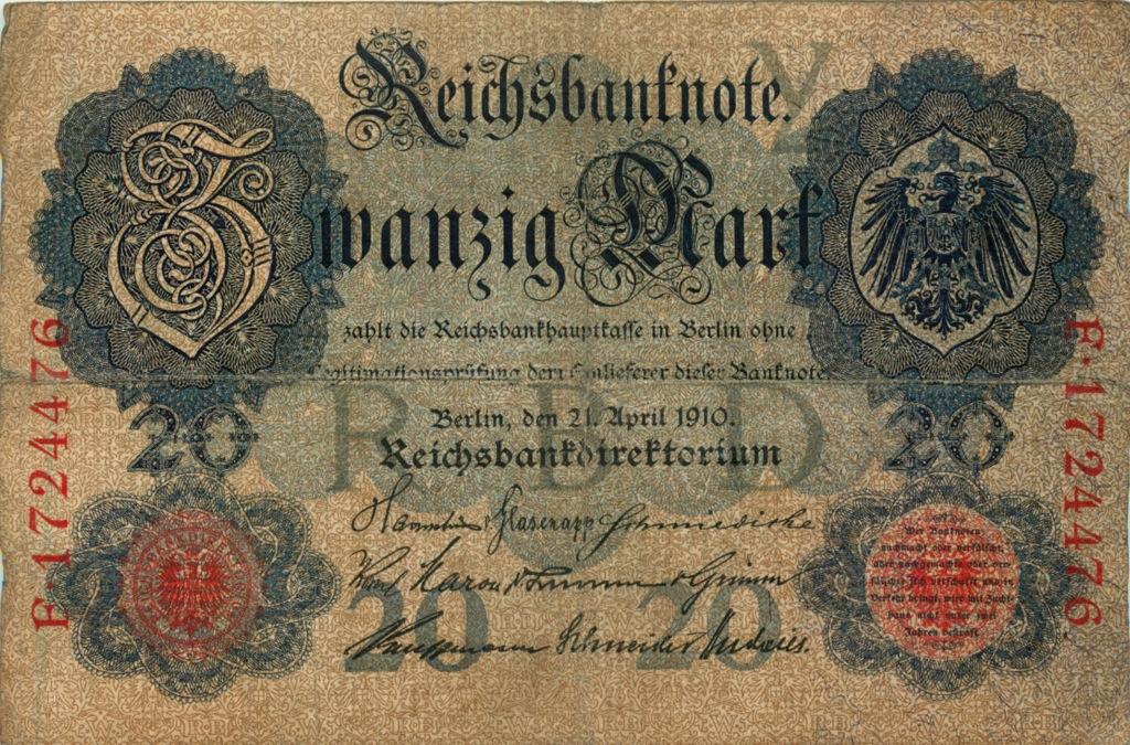 20 марок 1910 года (Германия)