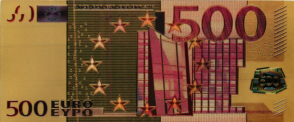 500 евро, сувенирная банкнота, Евросоюз