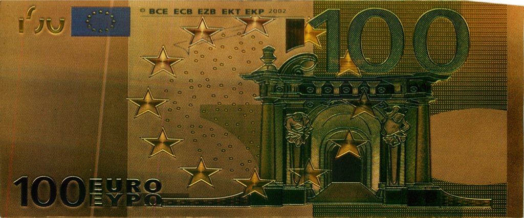 100 евро, сувенирная банкнота