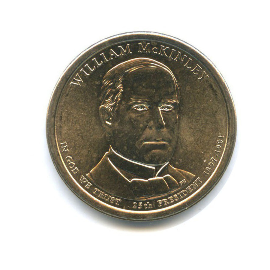 1 доллар — 25-ый Президент США - Уильям Мак-Кинли (1897–1901) 2013 года D (США)