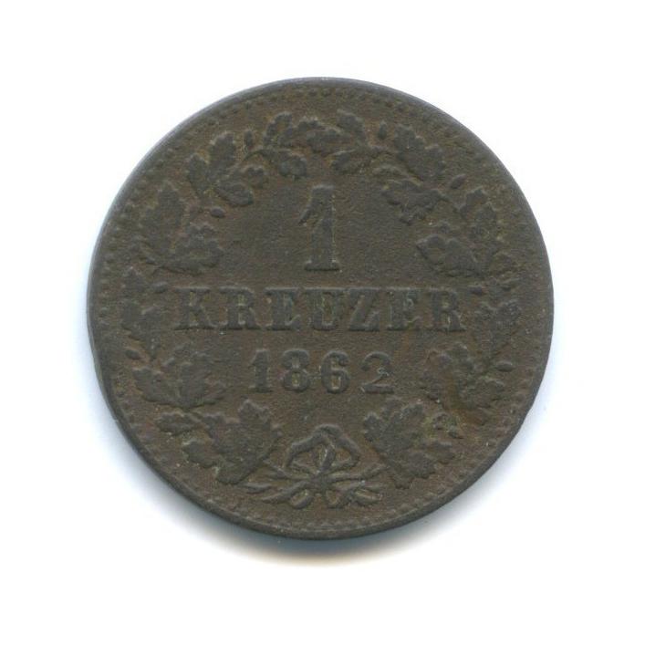 1 крейцер, Нассау 1862 года