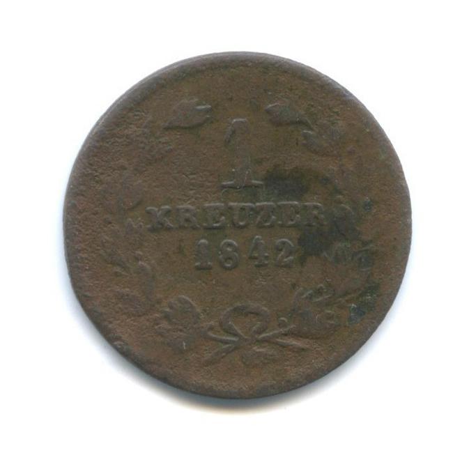 1 крейцер - Леопольд I, Баден 1842 года