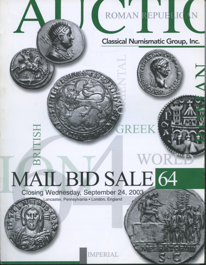 Каталог аукциона нумизматики «AMail Big Sale», №64, 240 стр 2003 года (США)