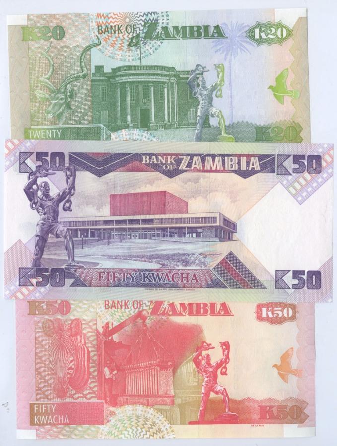 Набор банкнот, Замбия