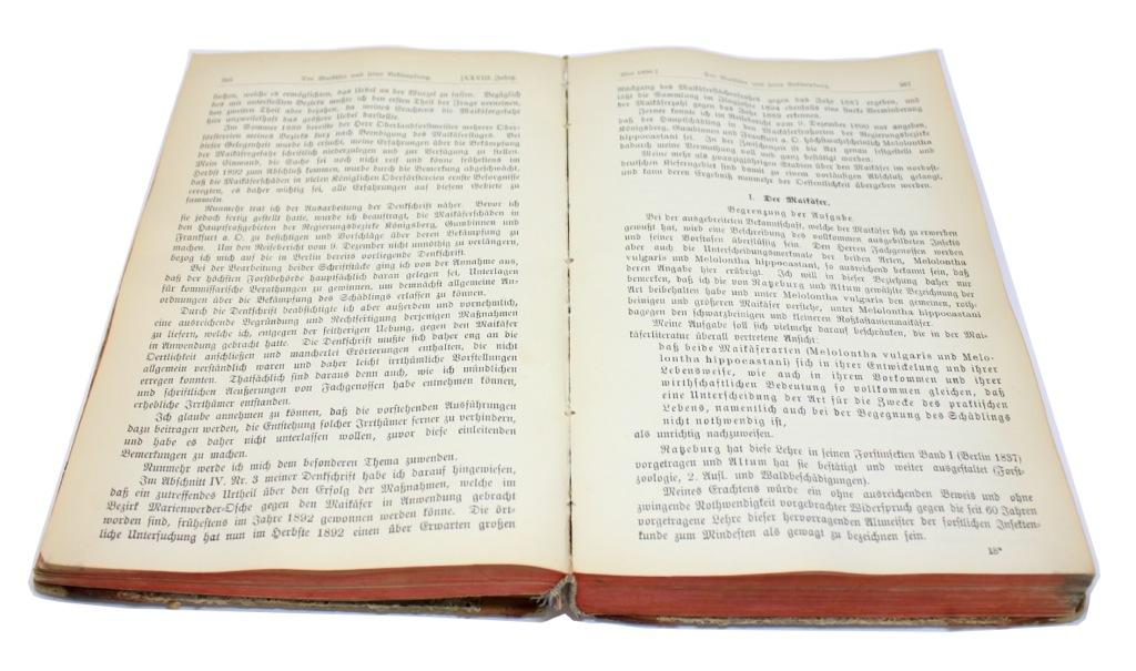 Книга «Zeitschrift für forst und Jagdmesen», Берлин, 758 стр 1896 года (Германия)