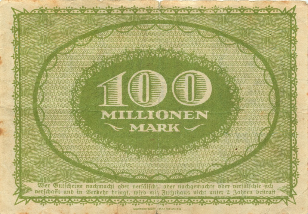 100 миллионов марок 1923 года (Германия)