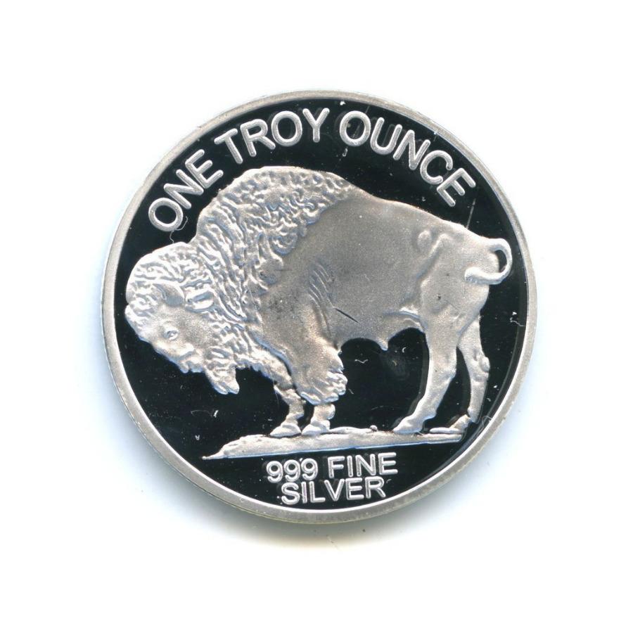 Жетон «One troy ounce» (под серебро)