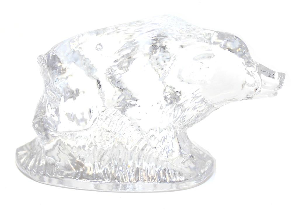 Фигурка «Кабан», стекло, 6 см