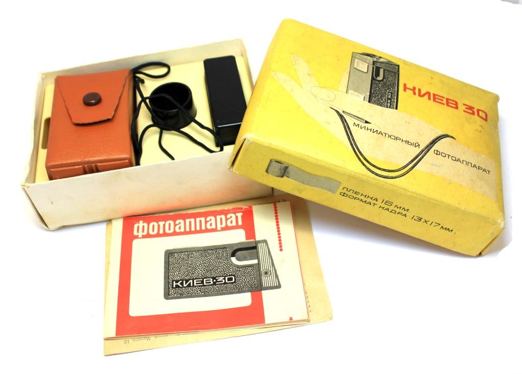 Миниатюрный фотоаппарат «Киев-30» 1980 года (СССР)