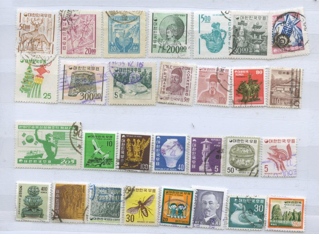 Набор почтовых марок (Корея)